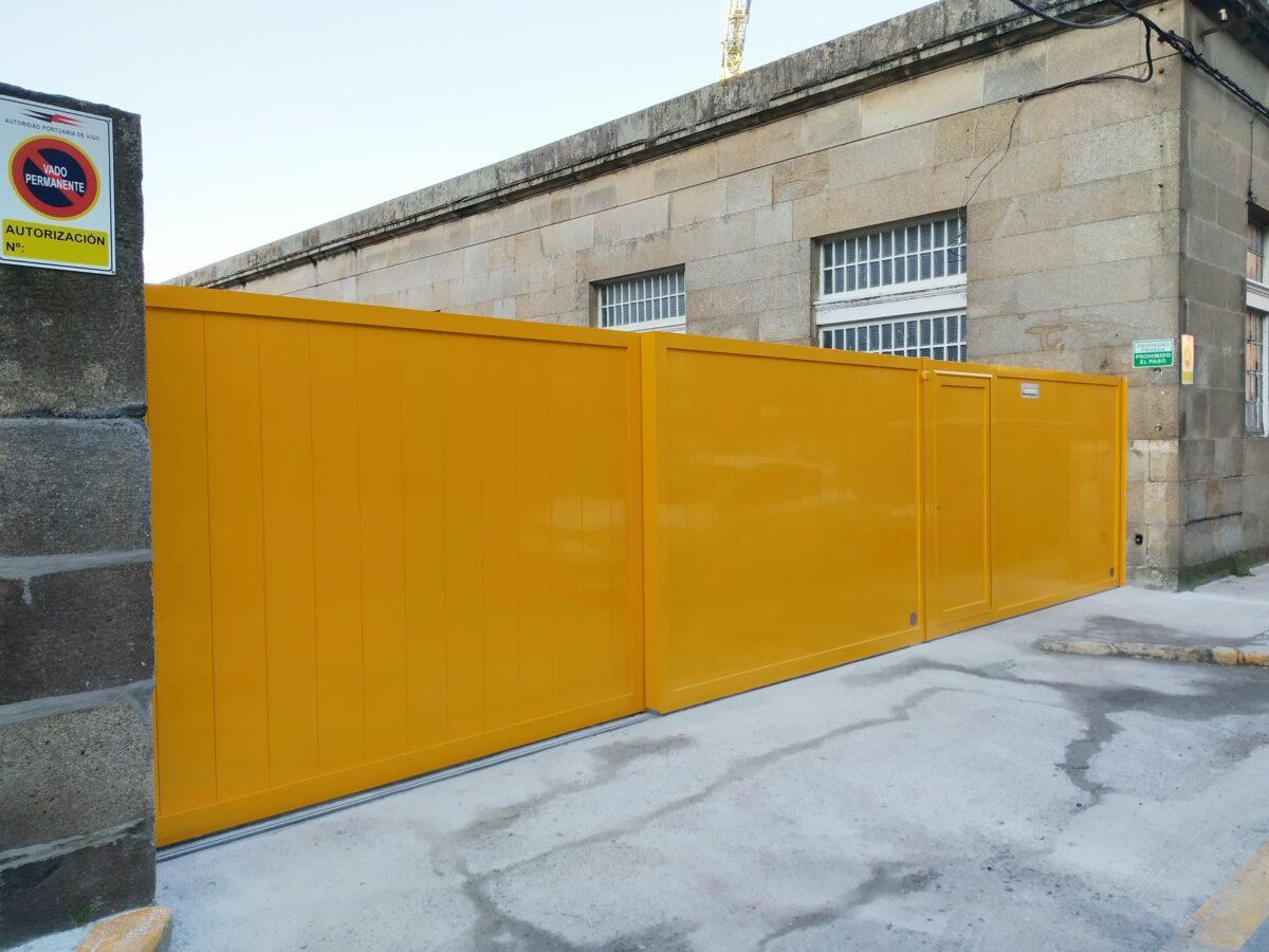 Portal corredera telescópico en Vigo